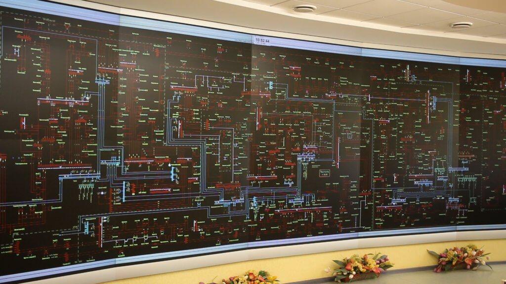 карта энергосетей
